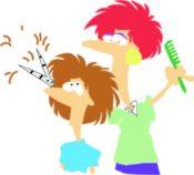 Cutting Hair Graphic