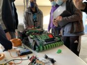 everyone working on robot